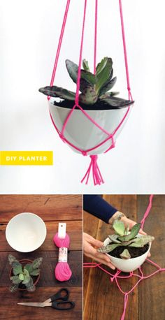 DIY Planter witha retro spin (a lot like my mum's old one).