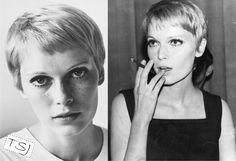Mia Farrow, inspiração para cabelo curto! http://thestylingjob.com