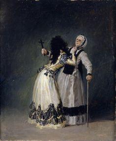 Francisco de Goya: la duquesa de Alba asustando a la beata, 1795.