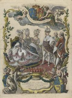 Allegory on the birth of Louis Joseph,  featuring Marie Antoinette seated.