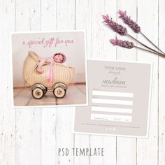 X Photography Gift Card Certificate Photoshop Psd Template