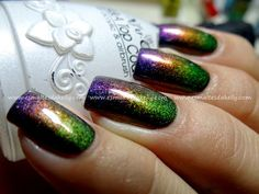 Enamels Kelly: gradient nails - Multichrome