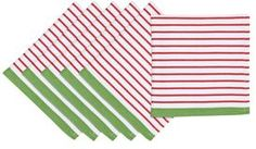 Christmas Candy Apple Cotton Napkins (Set of 6)