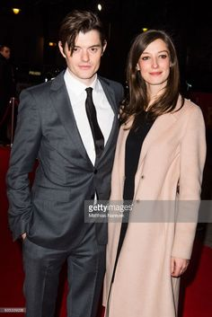 Sam Riley and Alexandra Maria Lara attend the 'SS-GB' premiere during the Berlinale International Film Festival Berlin at Haus der Berliner Festspiele on February 2017 in Berlin, Germany.