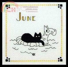 "Calico Crossroads Kats By Kelly - Mini Kats ""Cool Kat"" - June 2006"