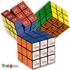Custom Rubik's Cube - Logo w/ colored side panels http://www.adcomarketing.com/Product/Rubiks-Cube-Custom-Toy-Adco-Marketing.aspx