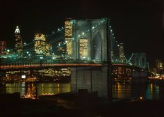 Have you walked across the Brooklyn Bridge at night? One of our favorite ways to see the bright, city lights!