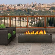 Napoleon Linear Patioflame Series 52 Inch Liquid Propane Outdoor Fireplace, Up to BTU's, Electronic Ignition: Black