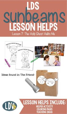 Primary ctr 3 lesson 26 the holy ghost can help me ctr 4 for Lds holy ghost coloring page