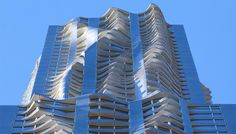 The Frank Gehry–designed New York by Gehry tower, which was completed in the spring of 2011, rises 76 stories over Lower Manhattan and stands 870 feet tall, making it the tallest residential buildi
