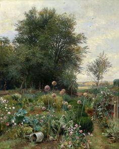 1895 Cottage Garden by Hugo Darnaut