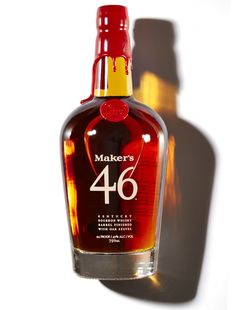 """Maker's 46 is a lab experiment gone right. """"They set out to enhance the iconic Maker's Mark, and succeeded by placing seared oak staves into a small batch bourbon for 90 days,days,"""" says Thomas. """"The result is everything you loved about Maker's with more complexity and an extra shot of well-balanced oak notes."""""""