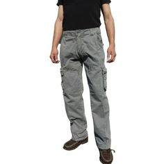 f47ec38c Mens Military-Style Grey Color Cargo Pants 27_32x32 - Walmart.com Army  Cargo Pants