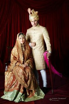 Lovely ..Indian Bride & Groom She is wearing a fabulous heirloom Lenga.