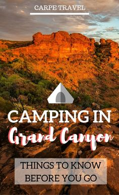 Camping in Grand Canyon: all you need to know to make it happen.Great ideas on camping with the kids so it is fun for the whole family. Summer Camp Packing, Camping Packing, Camping Hacks, Camping Gear, Camping Jokes, Beach Camping, Camping Equipment, Tent Camping, Glamping