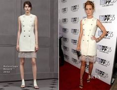Mackenzie Davis In Balenciaga - 'The Martian' New York Film Festival Premiere