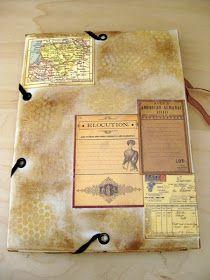 7 Gypsies Portfolio - by Becky, Becky's Scrapbook Burblings Journal Covers, Book Journal, Journal Ideas, Diy And Crafts, Paper Crafts, Portfolio Covers, Travel Album, Smash Book, Book Making