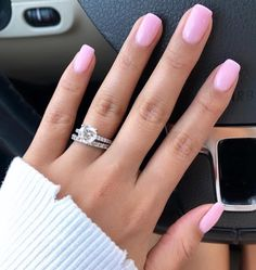 I was convinced to try this new combo by my nail lady and I LOVE it! Perfect sheer light pink 💅🏼 one coat of OPI Let me bayou a drink… Ongles Rose Pastel, Pastel Pink Nails, Pink Gel Nails, Cute Pink Nails, Pink Nail Polish, My Nails, Light Pink Acrylic Nails, Baby Pink Nails With Glitter, Pretty Gel Nails