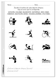 Actividades Olimpiadas niños #Pipo #escribir #olimpiadas