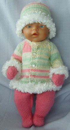 Multi Colours and Pink Outfit - Dolls Clothes Hand Made for 16-17 inch Dolls