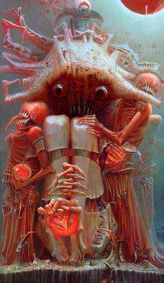 Surrealism and Visionary art: Alexandr Kumpan Arte Horror, Horror Art, The Crow, Arte Black, Ange Demon, Creepy Art, Scary, Creature Concept, Pop Surrealism