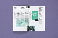 Matrix for Regular Events 2013 by Atelier Martino&Jaña, via Behance