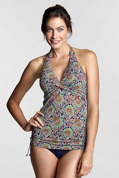 www.landsend.com Women's Regular Beach Living Paisley halter Tunic Top. <3 these! Totally adjustable on sides!