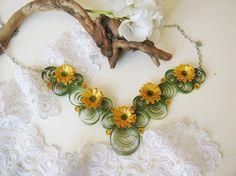 Collar de papel oro collar único regalo de boda de por SbirOtak