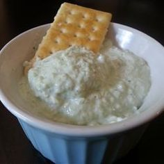 Best Benedictine Spread Allrecipes.com 2 English cucumbers - peeled, seeded, and cut into 2-inch chunks 2 tablespoons minced white onion 1 (8 ounce) package cream cheese, softened 1/2 teaspoon dried dill 1 dash hot pepper sauce (such as Tabasco®), or to taste 1 drop green food coloring, or as needed (optional) cayenne pepper, or to taste
