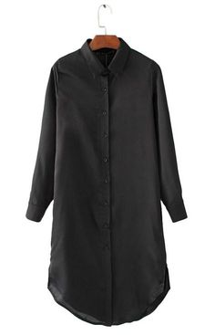 Specifications: Gender:Women Decoration:Embroidery Style:Fashion Clothing Length:Long Sleeve Length:Full Pattern Type:Floral Collar:Turn-down Collar Fabric Type:Satin Sleeve Style:Regular Material:Pol Fashion Now, Womens Fashion For Work, Woman Fashion, Fashion Outfits, Style Fashion, Long Shirt Dress, Shirt Blouses, Shirts, Business Dresses