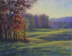 Carolina Autumn 11x14 Pastel, painting by artist Joe Mancuso