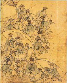 단원(檀園) 김홍도(金弘道) 1745-1806? 김홍도는 1745년에 태어나서 1806년 이후 어느 해엔가 죽었다. 최근의 학자들은 1806년 경에 죽은 것으로 추측한다. 김홍도는 지금 그의 그림으로 전하는 그림만 500점에 육박하고 그 중에도 다수의 진작과 걸작이 있다. 김홍도는 한국 회화사에 있어서 그 누구보다도 많은 양과 질 높은 그림들을 남기고 있다. 하지만 아이러니 하게도, 우리는 김홍도의 부인이 누구이고 김홍도가 말년을.. Korean Art, Asian Art, Korean Picture, Korean Painting, Korean Traditional, The Old Days, Traditional Paintings, Art Drawings, Vintage World Maps