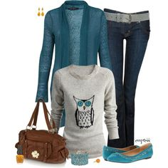 """Burberry Owl Shirt"" by exxpress on Polyvore So BEAUTIFUL!"