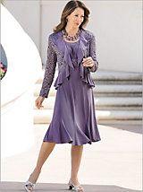 A pretty possibility! Lace Ruffle Jacket Dress | Drapers