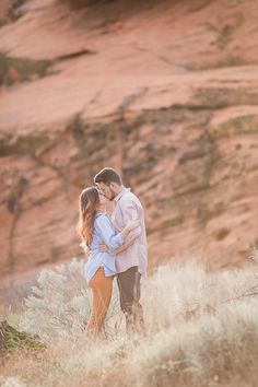 Red Rock Engagement Photos at Snow Canyon Utah | Alyssa Ence Photography | Snow Canyon State Park | Reverie Gallery Wedding Blog