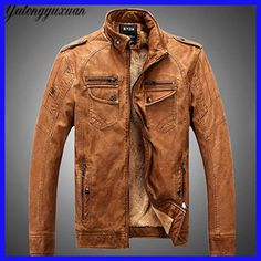 PU Leather Jacket Men Winter Jackets and Coats Thickening Wool Windbreak Waterproof Warm Skin Lamb Fur Trench Coat Plus Size Pilot Leather Jacket, Lambskin Leather Jacket, Leather Men, Jacket Men, Bomber Jacket, Leather Blazer, Thick Leather, Suede Leather, Leather Collar