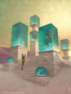 Low Season Mars Tourist Artwork by Antonio Caparo Fantasy Kunst, Sci Fi Fantasy, Fantasy World, Arte Sci Fi, Sci Fi Art, Cyberpunk, Sci Fi Kunst, Science Fiction Kunst, Wow Art