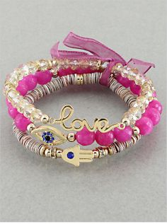 Protection from Evil Set in Pink from P.S. I Love You More. Shop online at: https://psiloveyoumore.storenvy.com