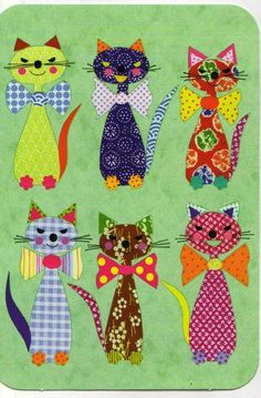 New Patchwork Baby Quilt Pattern Fabrics Ideas Cat Quilt Patterns, Applique Patterns, Applique Quilts, Applique Designs, Quilt Baby, Motifs D'appliques, Quilting, Animal Quilts, Cat Crafts