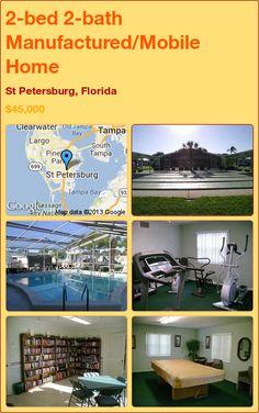 2-bed 2-bath Manufactured/Mobile Home in St Petersburg, Florida ►$45,000 #PropertyForSale #RealEstate #Florida http://florida-magic.com/properties/5781-manufactured-mobile-home-for-sale-in-st-petersburg-florida-with-2-bedroom-2-bathroom