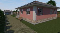 95 m2-es kádárkocka energiatudatos felújítása, alaprajzzal és látványtervvel Rózsaszín volt a ház eredeti színe. Ezt cseréltük le a halványsárgára. Shed, Outdoor Structures, Park, Parks, Barns, Sheds