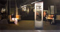 Sara Friedlander - New York Subway series. New York Subway, Nyc Subway, Subway Series, New York City, Illustration Art, New York, Nyc