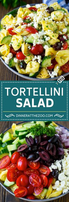 Greek Tortellini Salad Recipe | Pasta Salad | Tortellini Salad | Greek Salad #greek #tortellini #pasta #salad #cucumbers #olives #dinner #dinneratthezoo