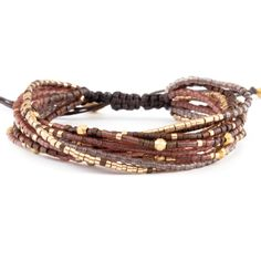 Chan Luu - Red Mix Multi Strand Bracelet on Rum Raisin Cord, $100.00 (http://www.chanluu.com/bracelets/red-mix-multi-strand-bracelet-on-rum-raisin-cord/)