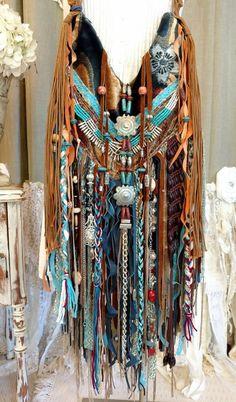 Handmade Fringe Vintage Tapestry Fabric Bag Hippie Festival Boho Purse tmyers #HandmadebyTraciMyersMe #ShoulderBag