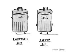 fantastic / rubbish by gemma correll, via Flickr
