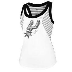 22ff176d2c0 San Antonio Spurs adidas Women s Racer Stripe Tank - White