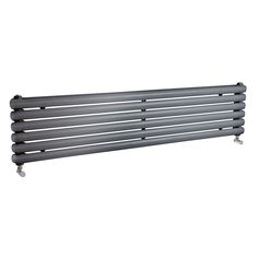 The Mojave Anthracite 383mm x 1500mm Double Horizontal Radiator is a column radiator with a stylish modern twist. Designed to be connected to your central heating system, this horizontal radiator boasts superb heat outputs as well as 2 round columns that wrap around the sides of the radiator. This model is supplied to you as a vertical radiator with horizontal mounting brackets.