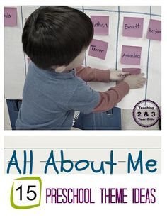 15 All About Me theme ideas for preschool featured on Teaching 2 and 3 Year Olds.