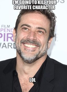 JDM is going to be Negan in TWD. Scary!